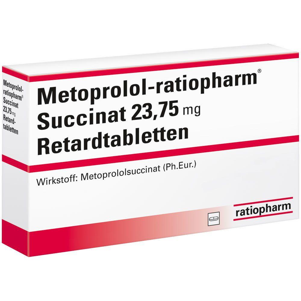 METOPROLOL ratiopharm® Succinat 23,75mg Retardtabl.