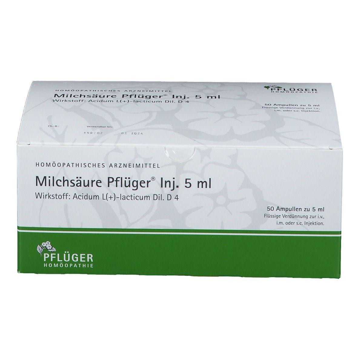Milchsäure Pflüger® Inj. 5 ml