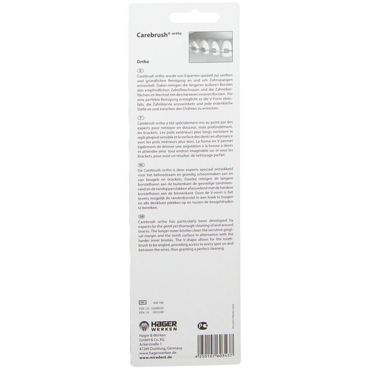MIRADENT  Carebrush ® ortho Zahnbürste für Spangenträger