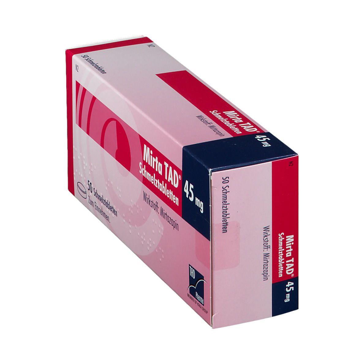 MIRTA TAD 45MG SCHMELZTABL 50 St - shop-apotheke.com