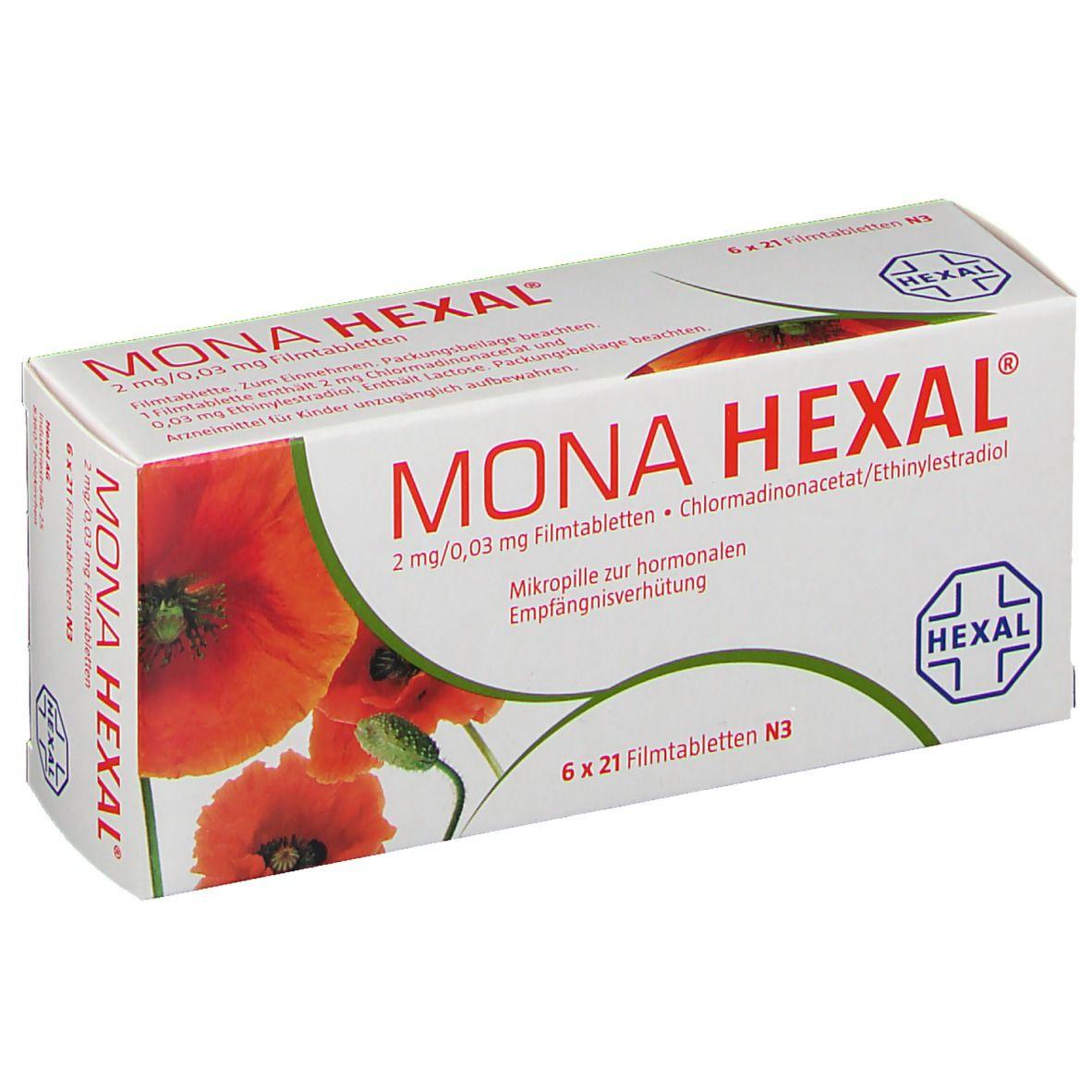 MONA HEXAL® 2 mg/ 0,03 mg Filmtabletten 6X21 St - shop