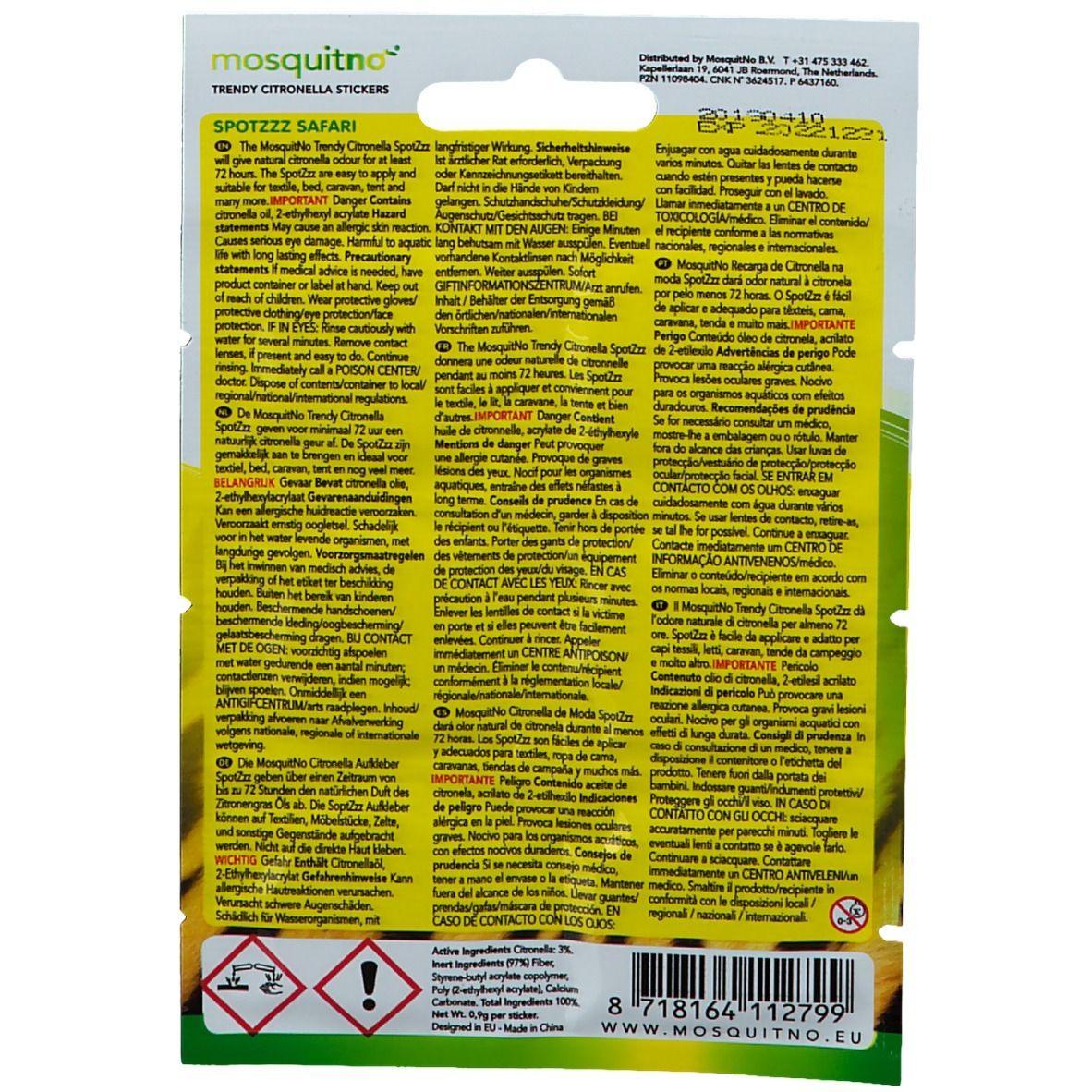 mosquitno® SpotZzz Sticker Safari
