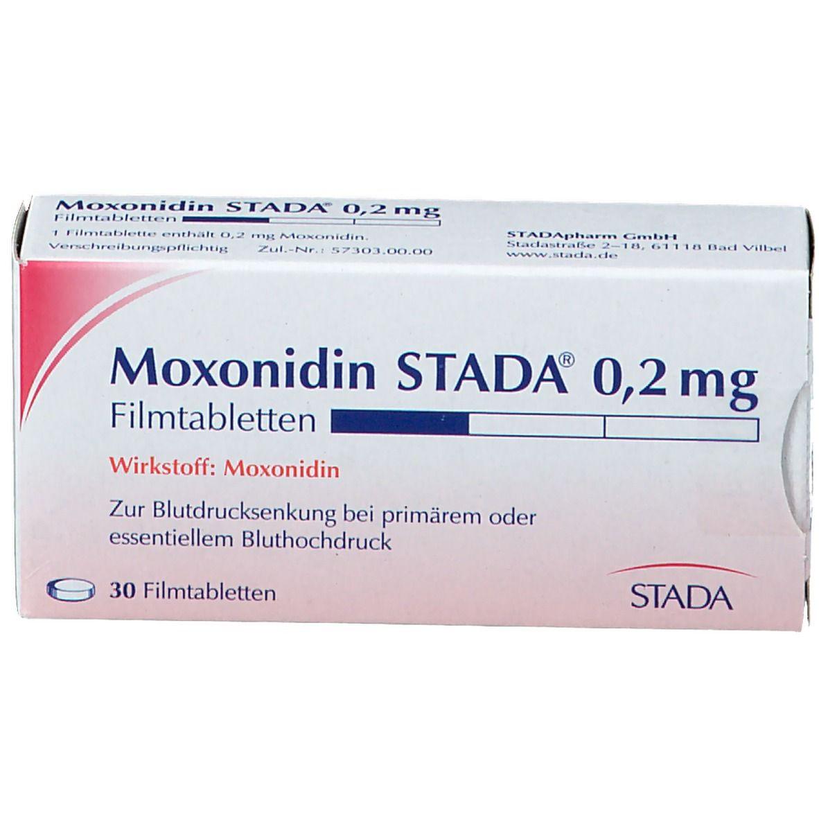 Moxonidin STADA® 0,2 mg Filmtabletten