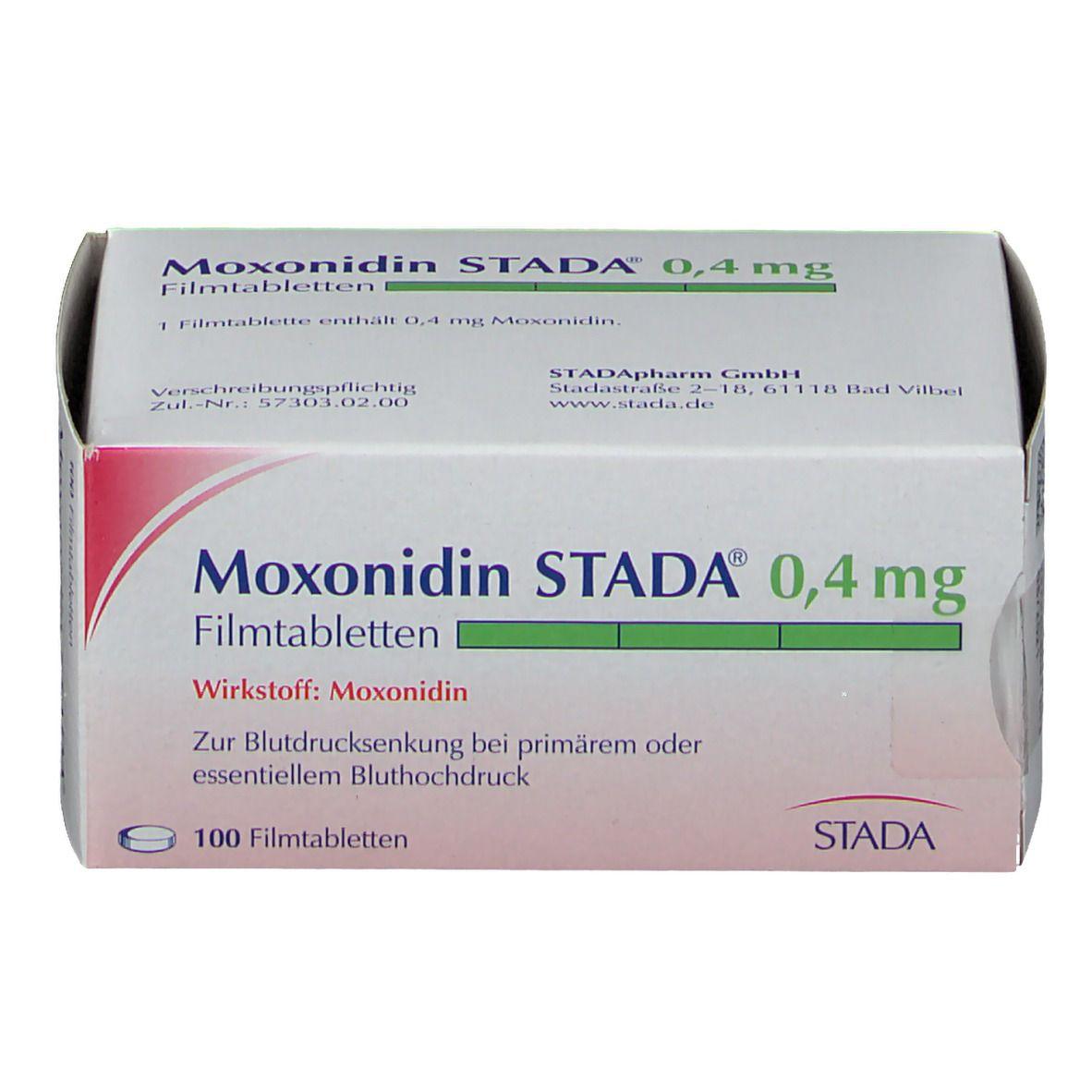 Moxonidin Stada® 0,4 mg Filmtabletten