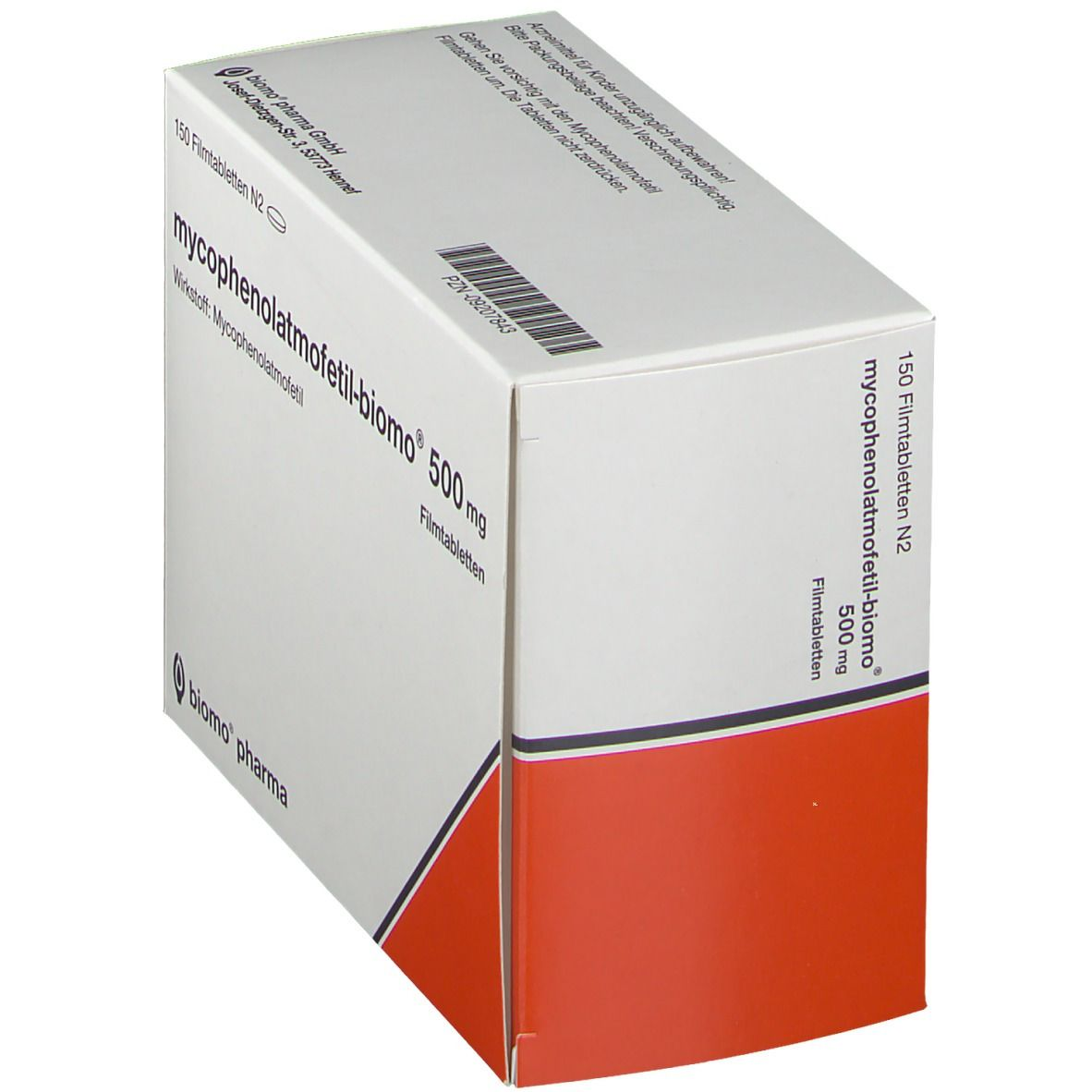 MYCOPHENOLATMOFETIL biomo 500 mg Filmtabletten