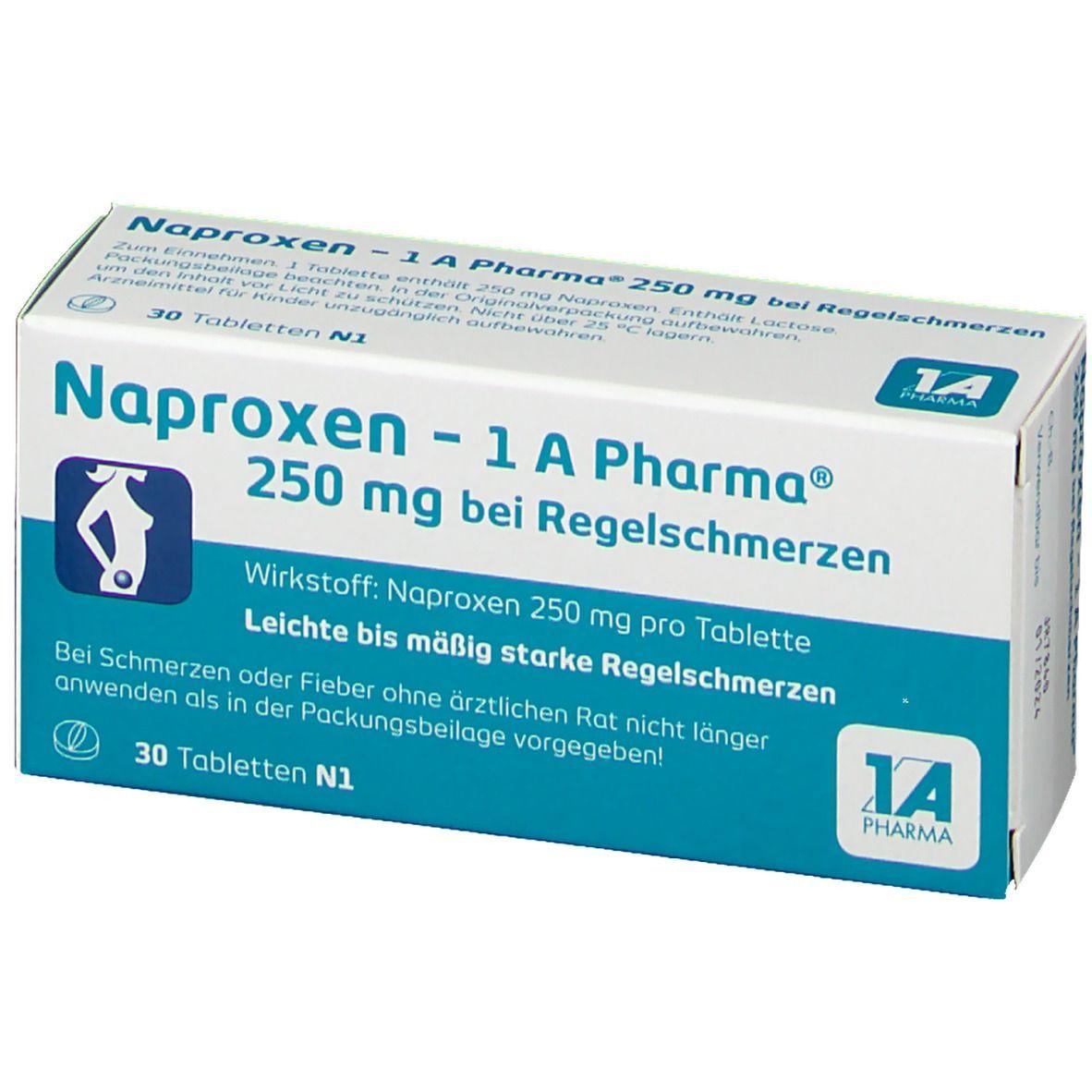 Naproxen - 1 A Pharma® 250 mg bei Regelschmerzen