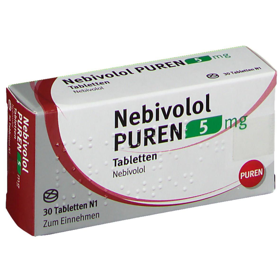 NEBIVOLOL PUREN 5 mg Tabletten