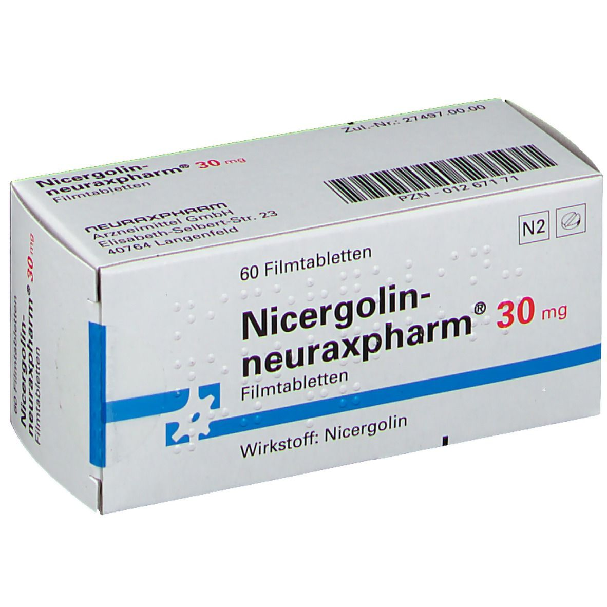 Nicergolin neuraxpharm 30 Filmtabl.