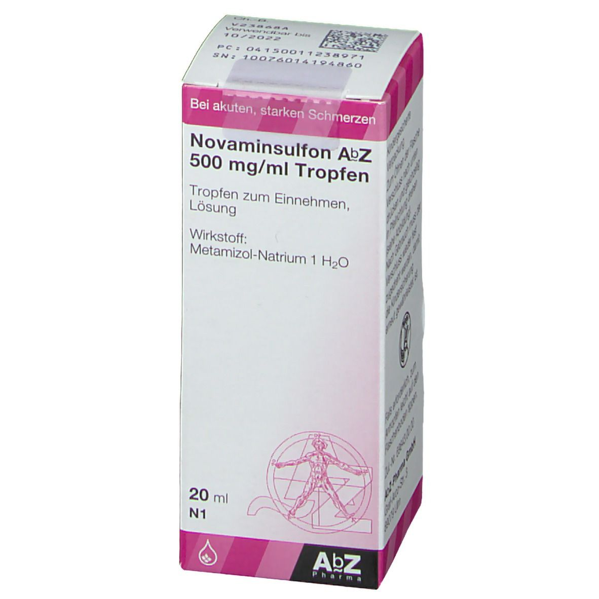 NOVAMINSULFON AbZ 500 mg/ml Tropfen
