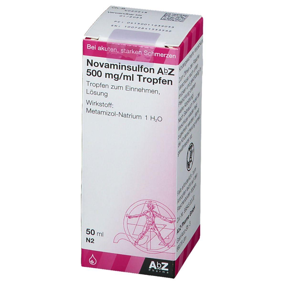 NOVAMINSULFON AbZ 500 mg/ml