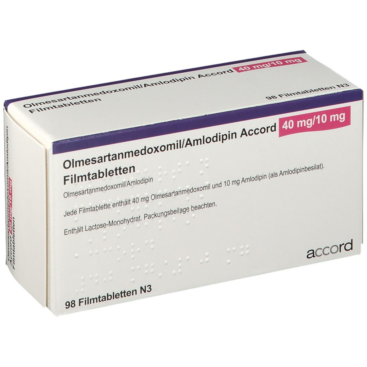 OLMESARTANMEDOXOMIL/Amlodipin Accord 40 mg/10 mg