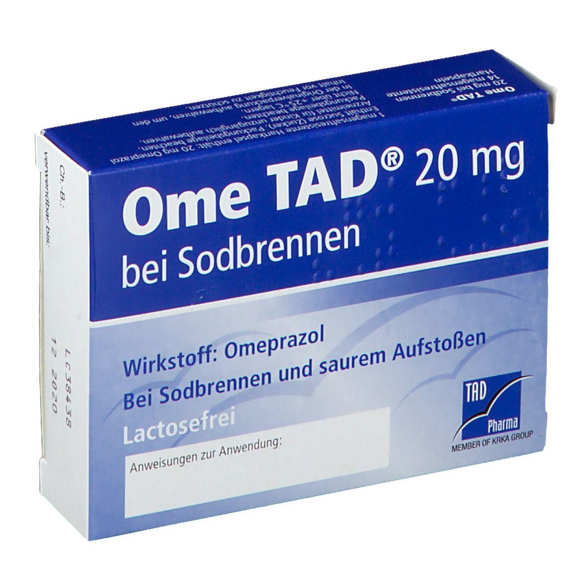 Ome TAD® 20 mg Kapseln bei Sodbrennen