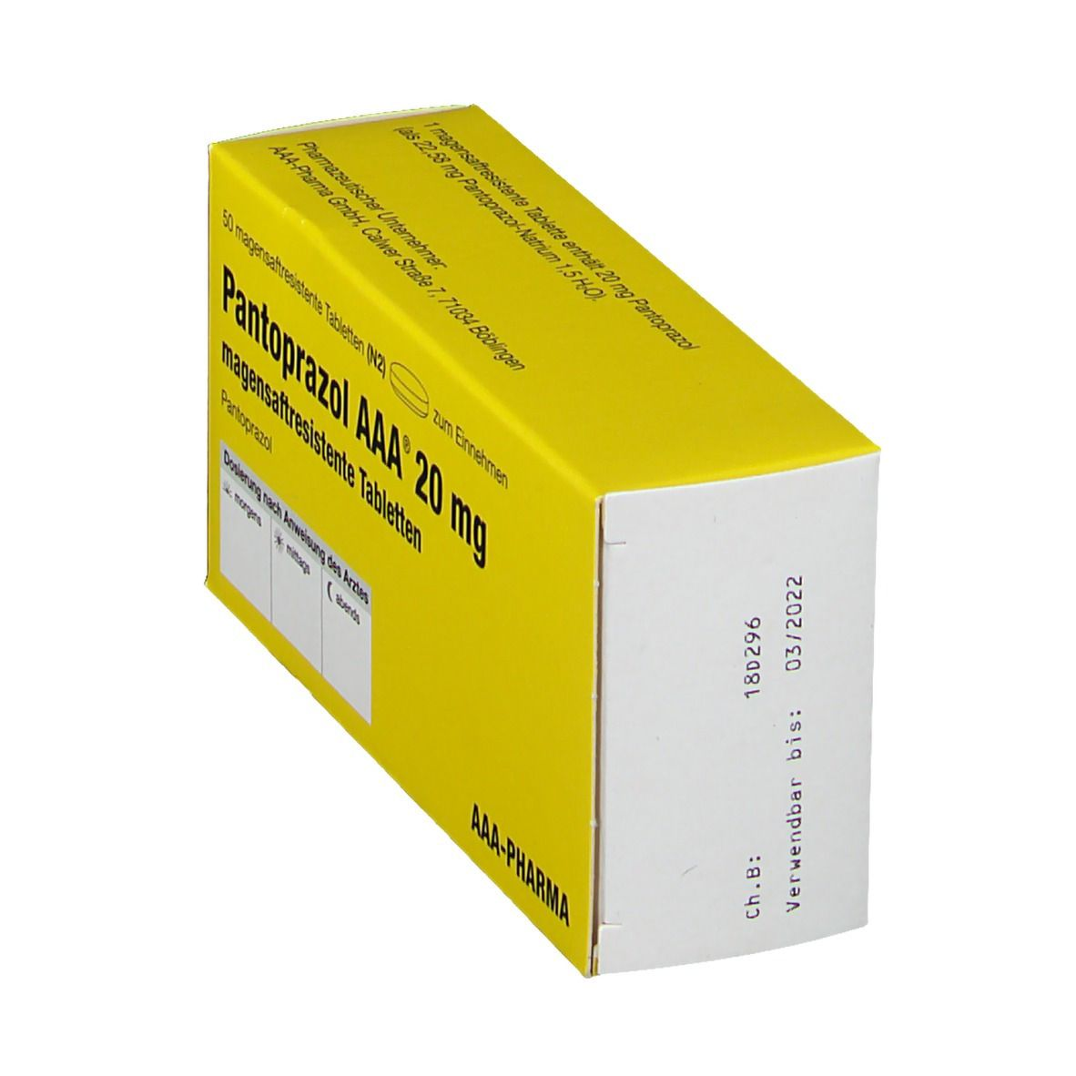 PANTOPRAZOL AAA 20 mg magensaftres. Tabletten