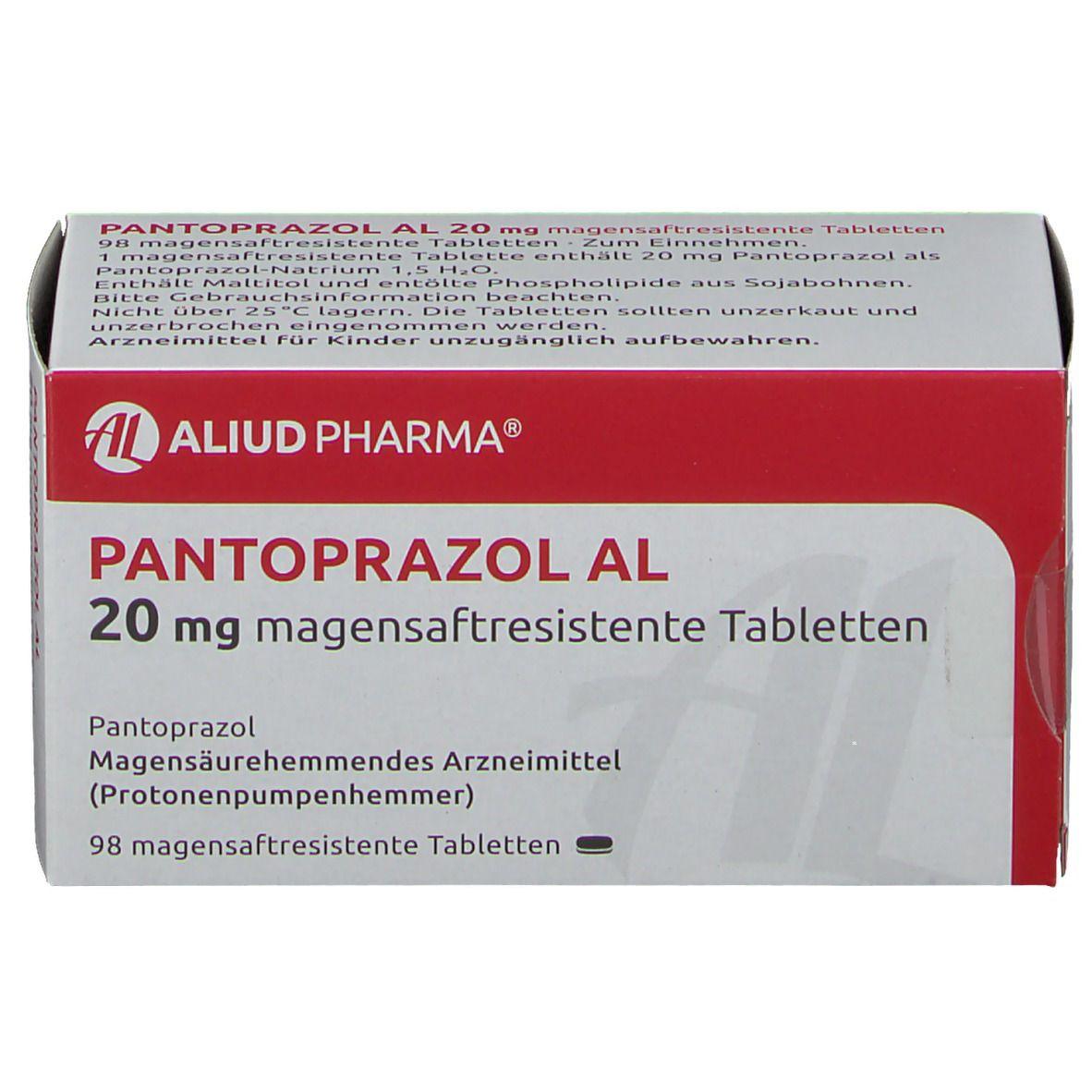 Pantoprazol AL 20 mg Tabletten