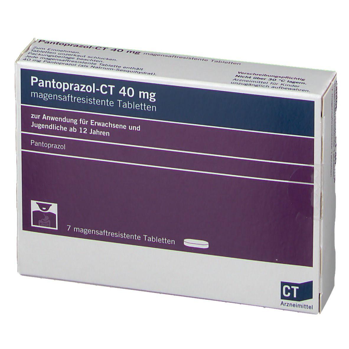 PANTOPRAZOL-CT 40 mg magensaftresistente Tabletten