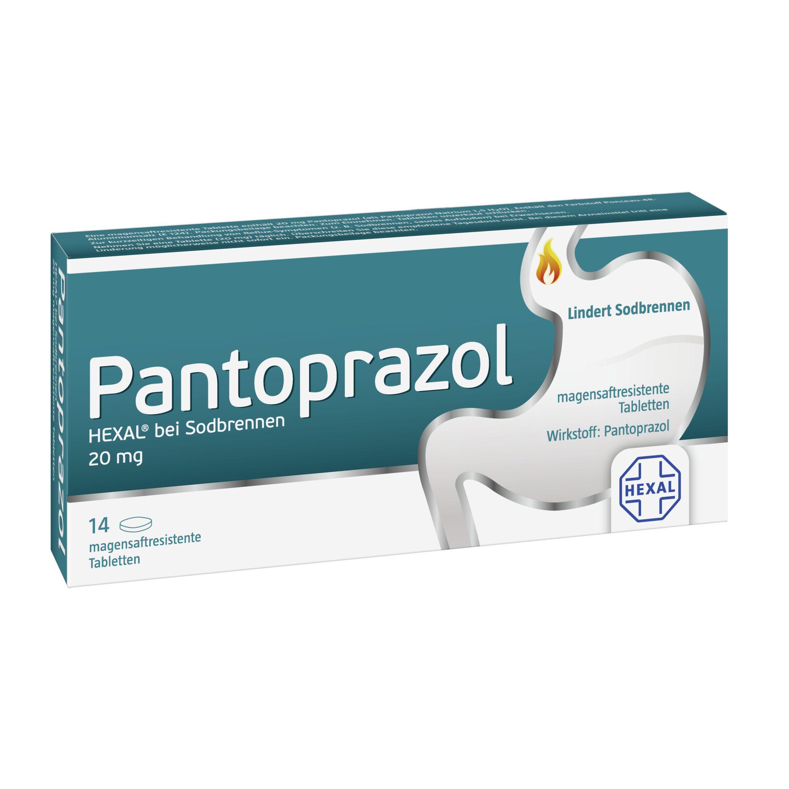 Pantoprazol HEXAL® bei Sodbrennen 20 mg
