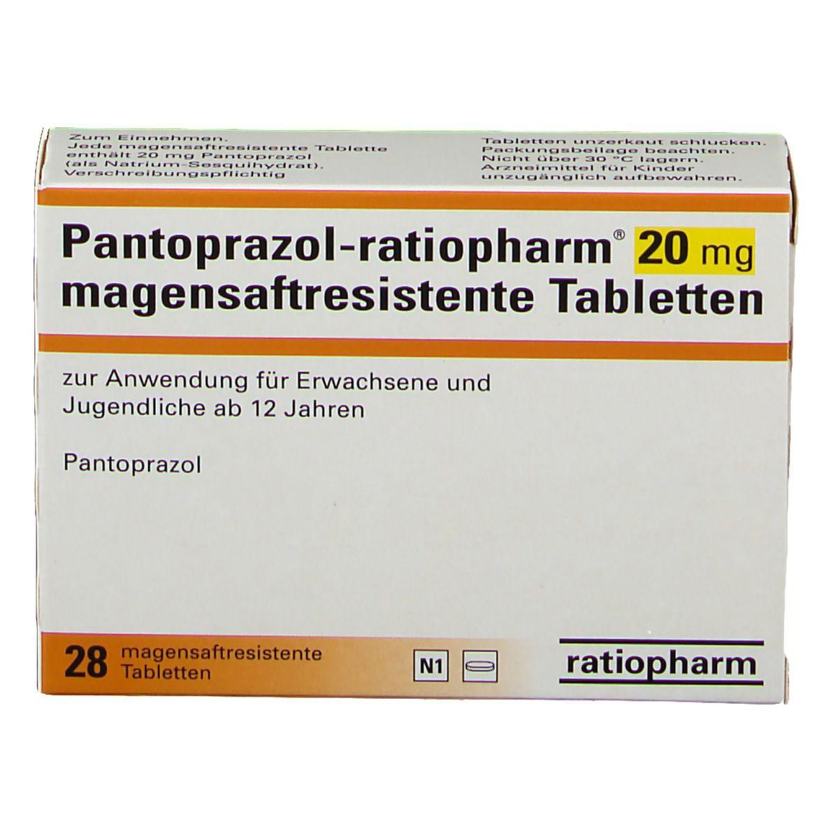 Pantoprazol ratiopharm® 20 mg Tabletten