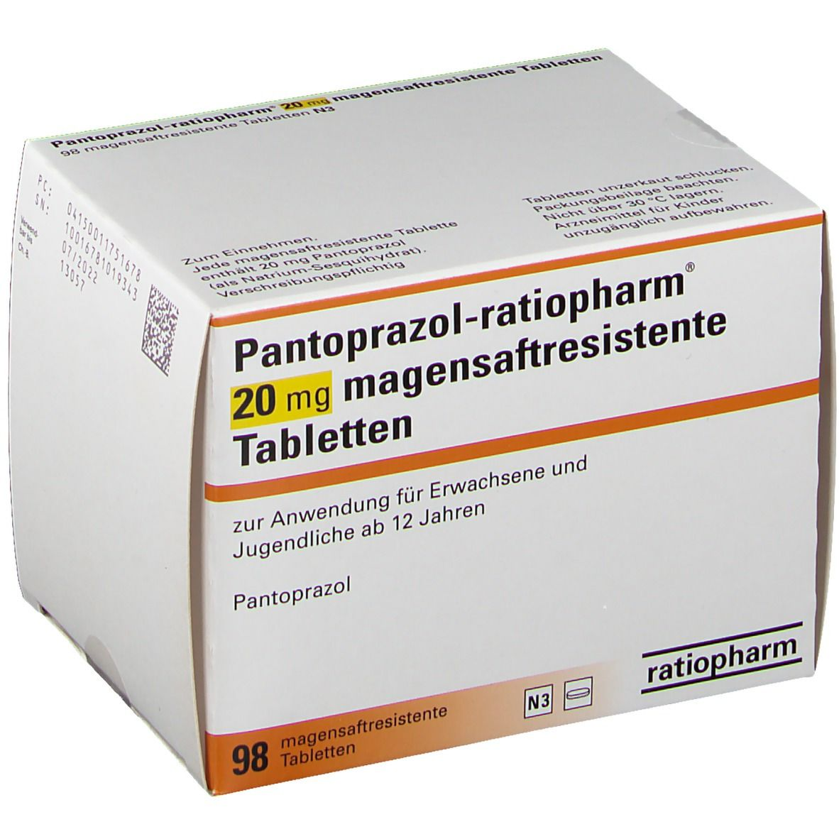 Pantoprazol ratiopharm® 20 mg Tabletten