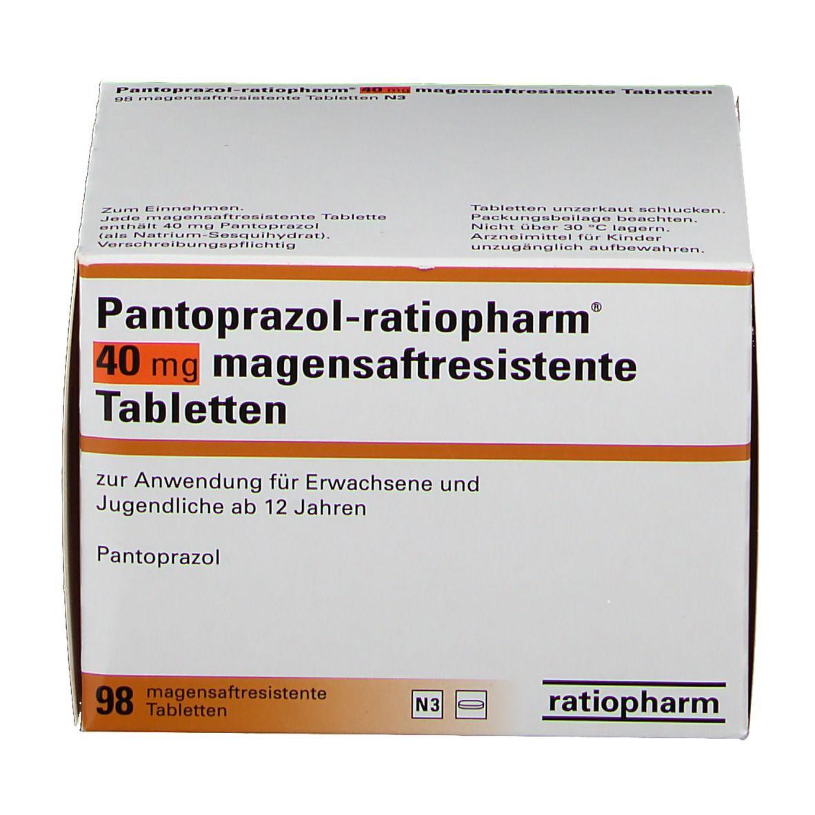 Pantoprazol ratiopharm® 40 mg Tabletten