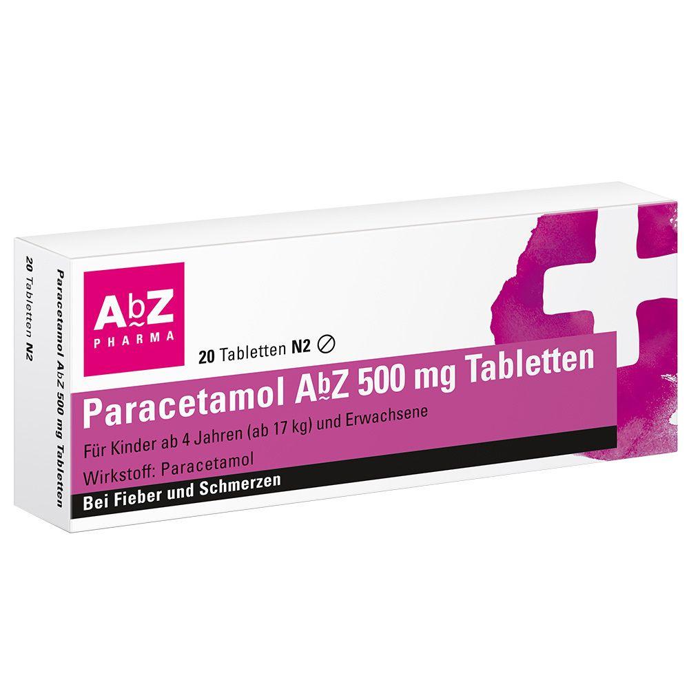Paracetamol AbZ 500 mg Tabletten