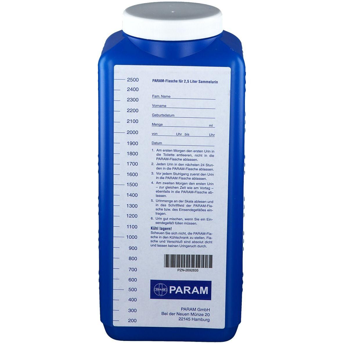 PARAM Urinflasche mit Deckel