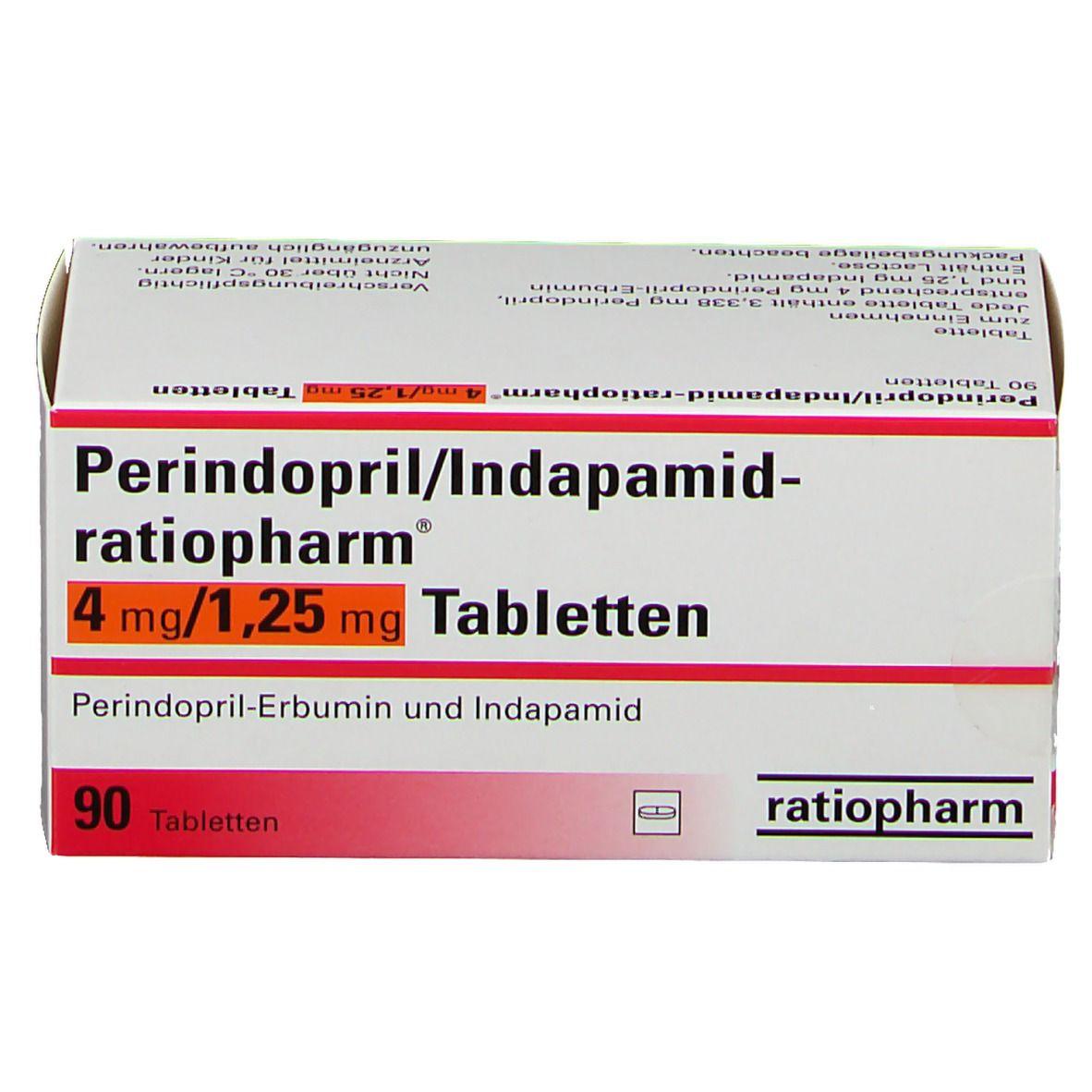 Perindopril Indapamid ratiopharm 4mg/1,25mg Tabletten