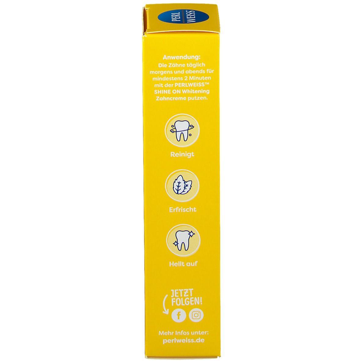PERLWEISS® Shine On Whitening Zahncreme Ananas und Minze
