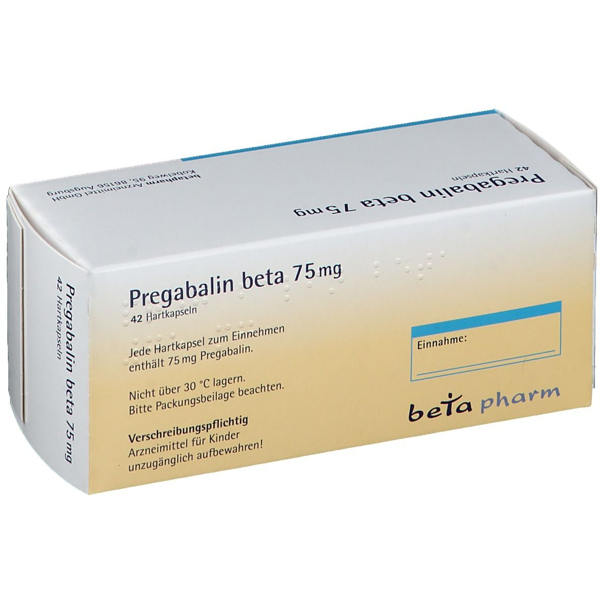 Pregabalin beta 75 mg