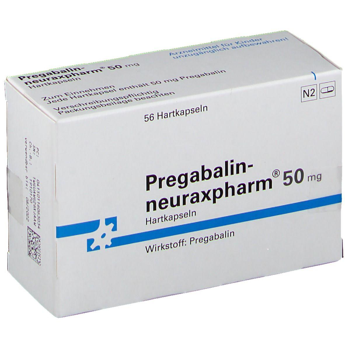 PREGABALIN-neuraxpharm 50 mg Hartkapseln