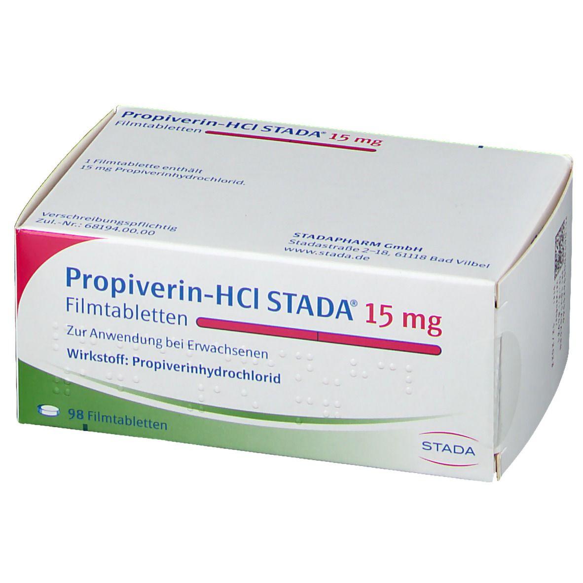 Propiverin HCl STADA® 15 mg Filmtabletten