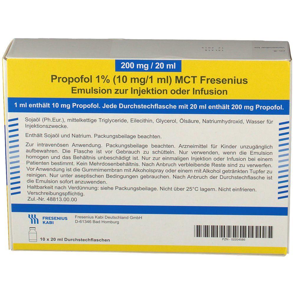 Propofol 1 % 10 mg / 1 ml MCT