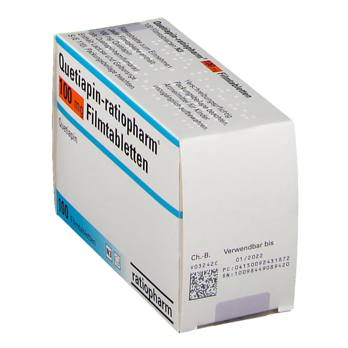 QUETIAPIN RATIO 100MG FTA