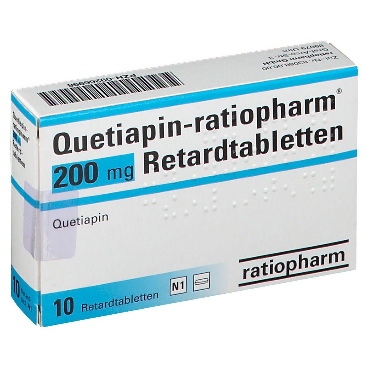 QUETIAPIN RATIO 200MG RET