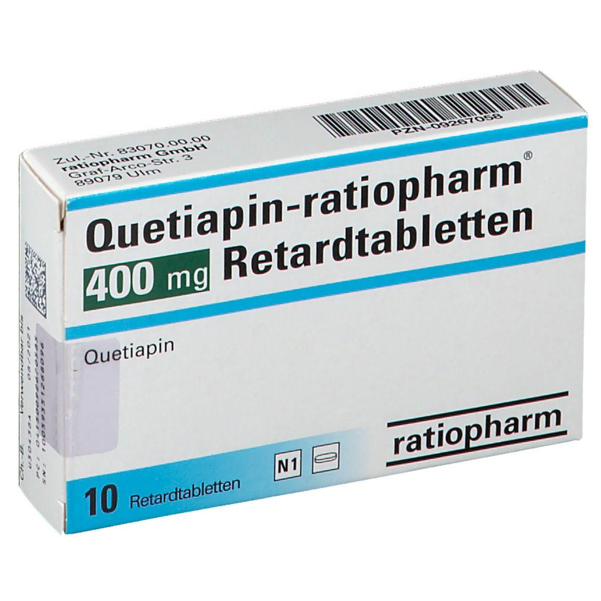 QUETIAPIN RATIO 400MG RET