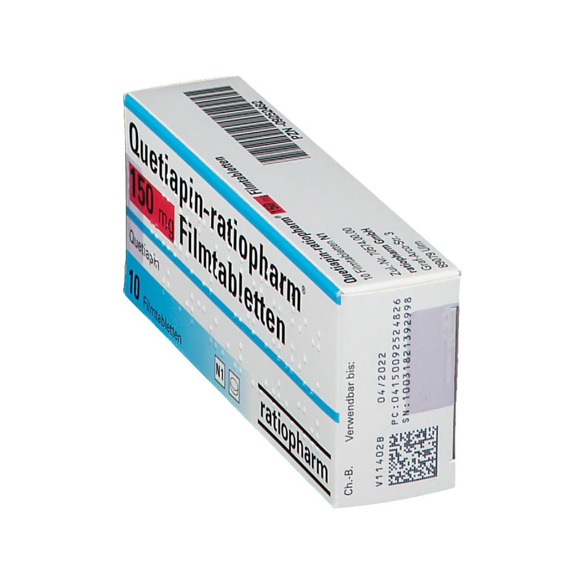 Quetiapin-ratiopharm® 150 mg Filmtabletten