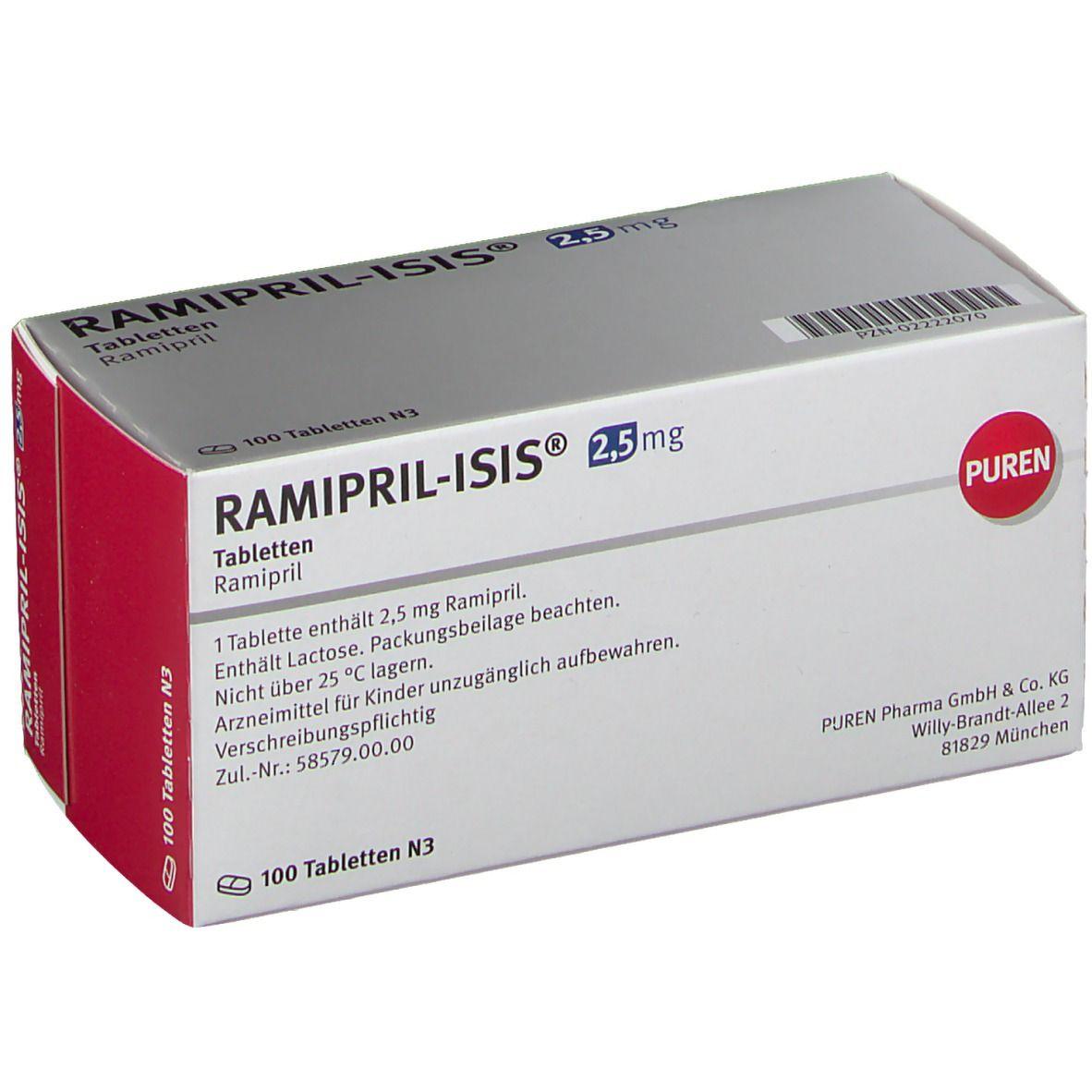 RAMIPRIL Isis 2,5 mg