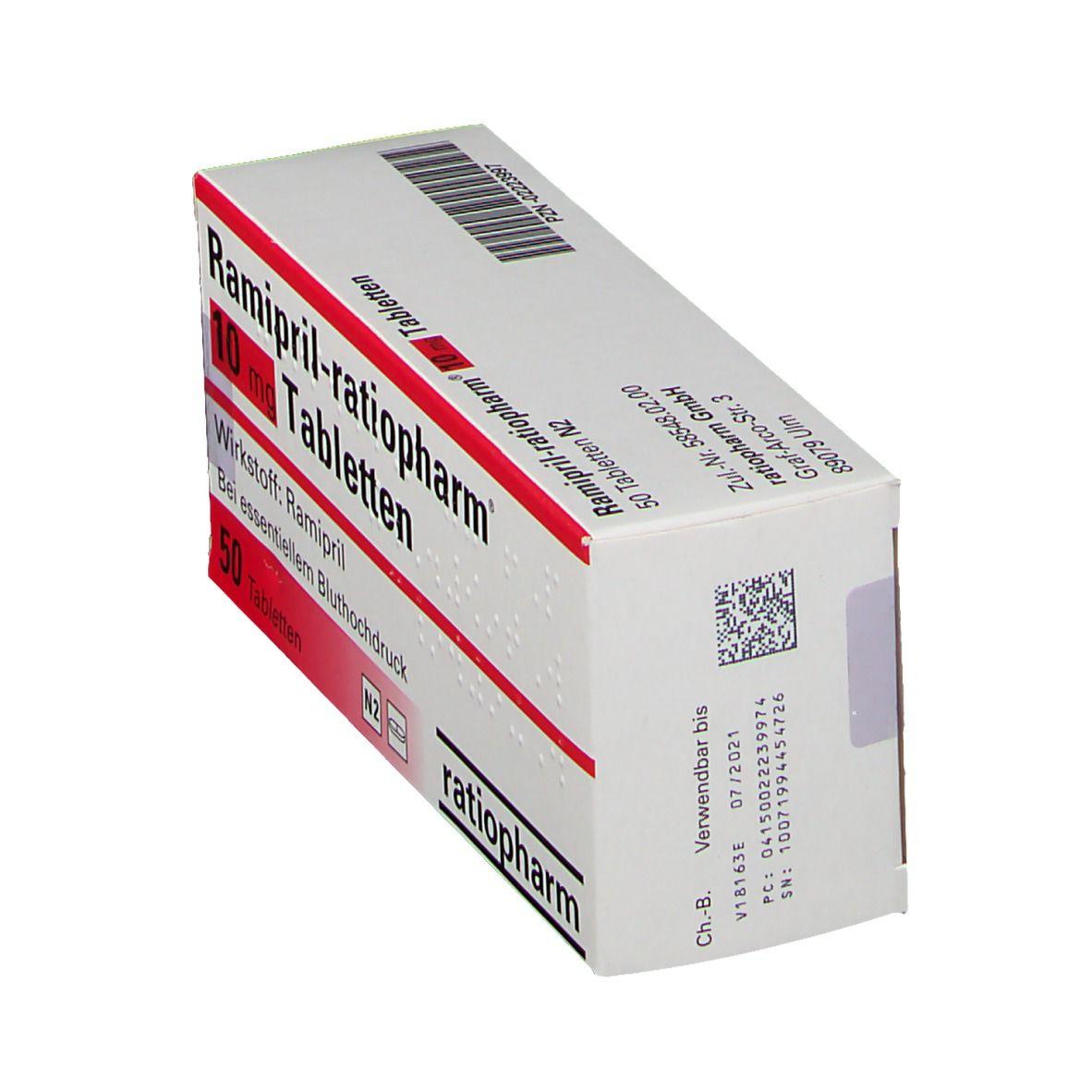 Ramipril ratiopharm® 10 mg Tabletten