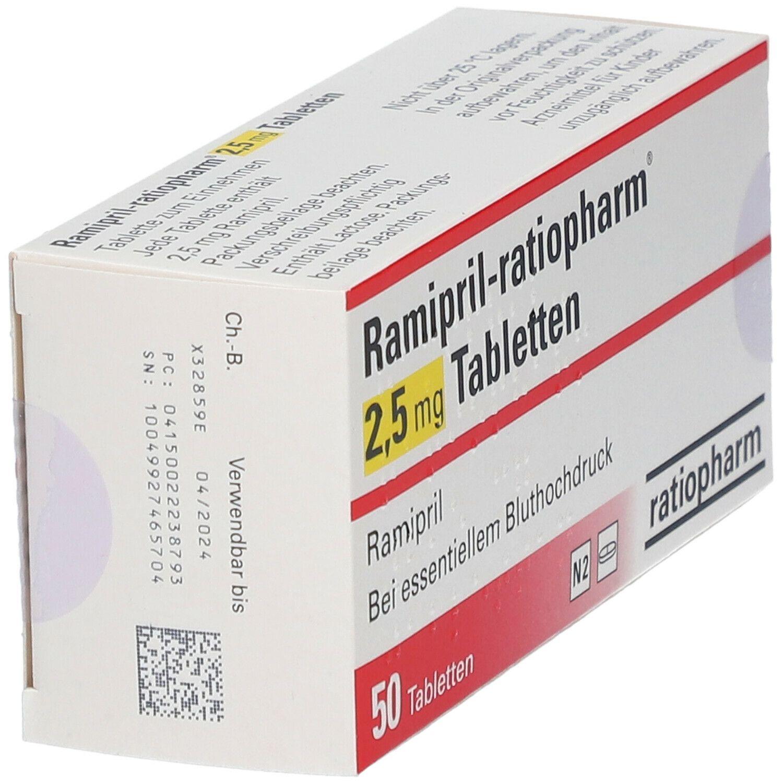Ramipril ratiopharm® 2,5 mg Tabletten