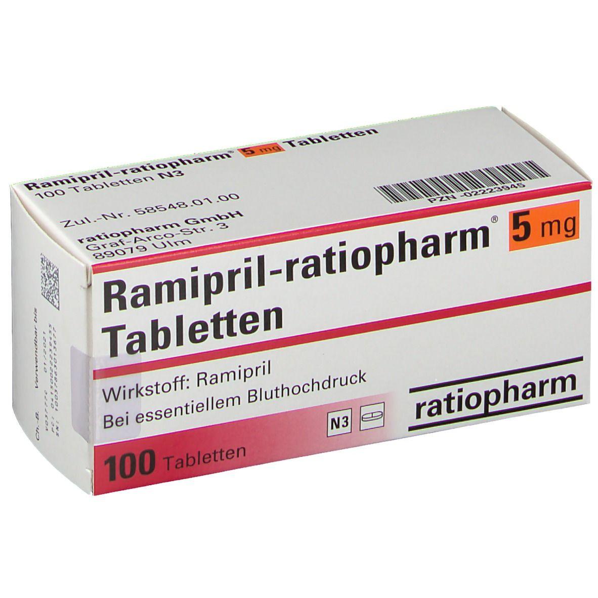 Ramipril ratiopharm® 5 mg Tabl.