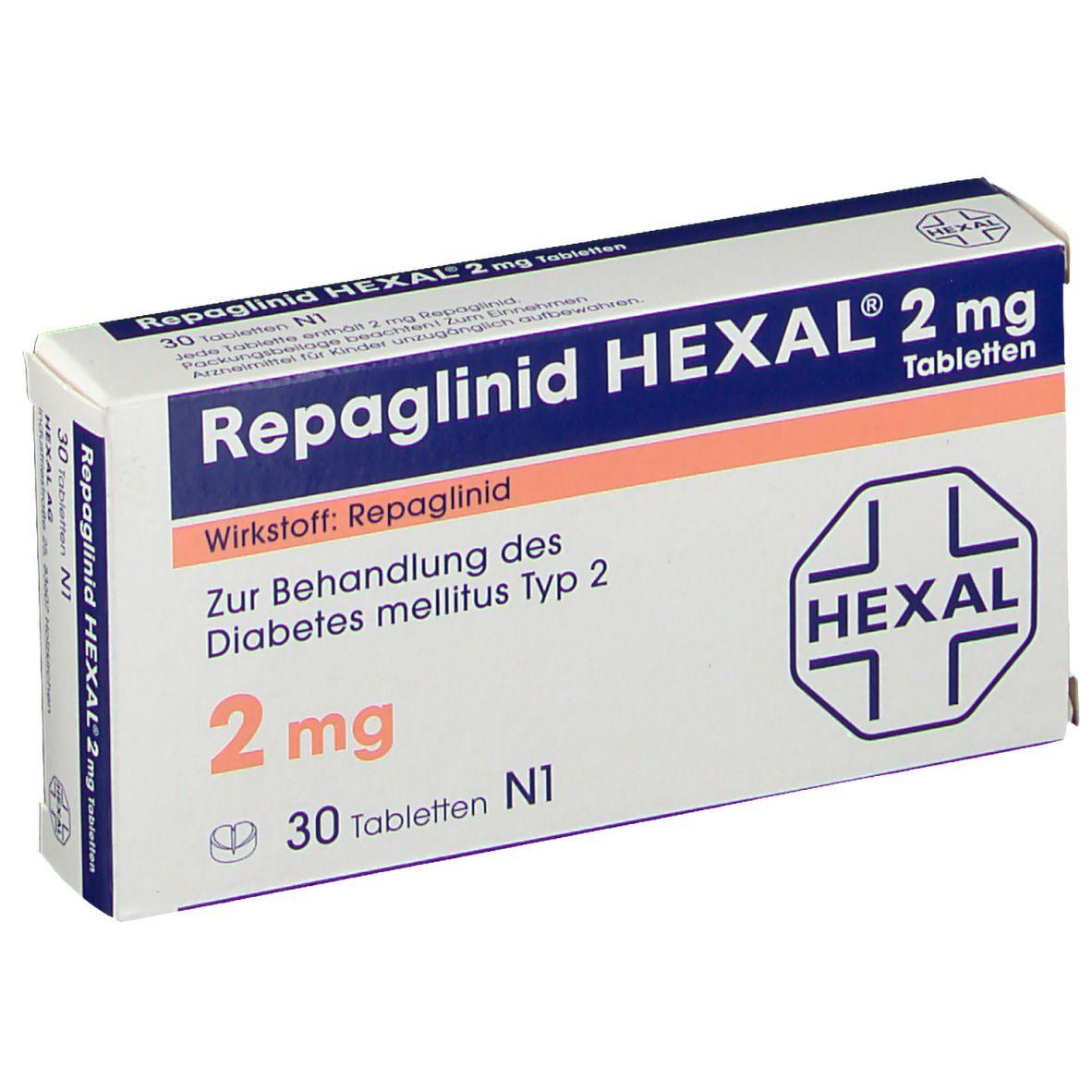 REPAGLINID HEXAL 2 mg Tabletten