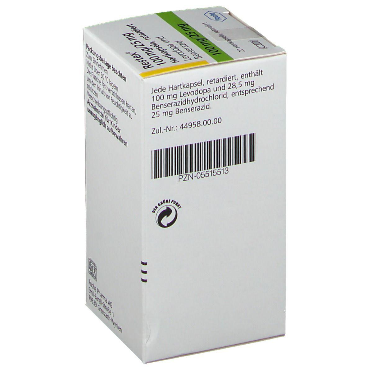 RESTEX 100 mg/25 mg Hartkapseln retardiert