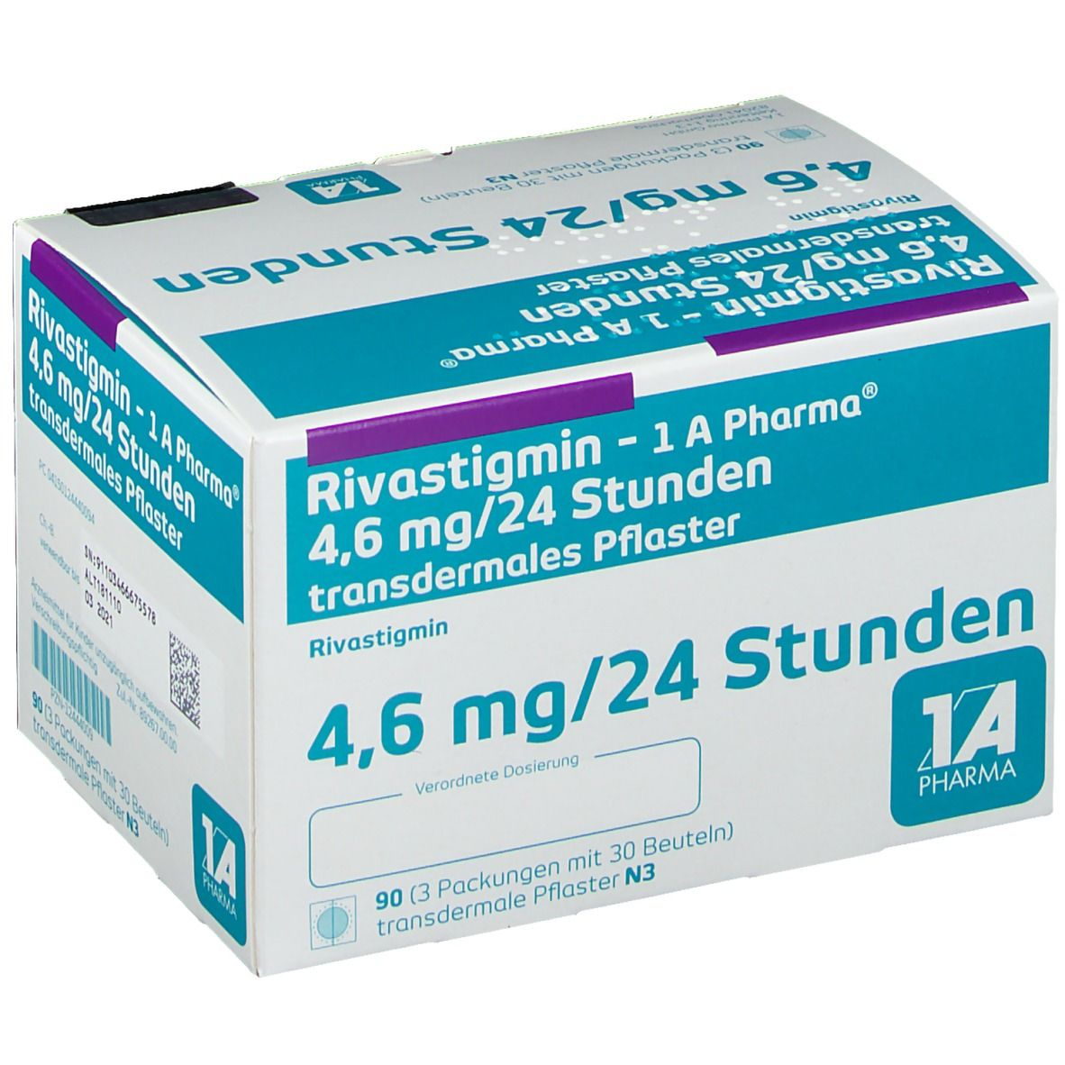 RIVASTIGMIN-1A Pharma 4,6 mg/24 Std. transd.Pfl.