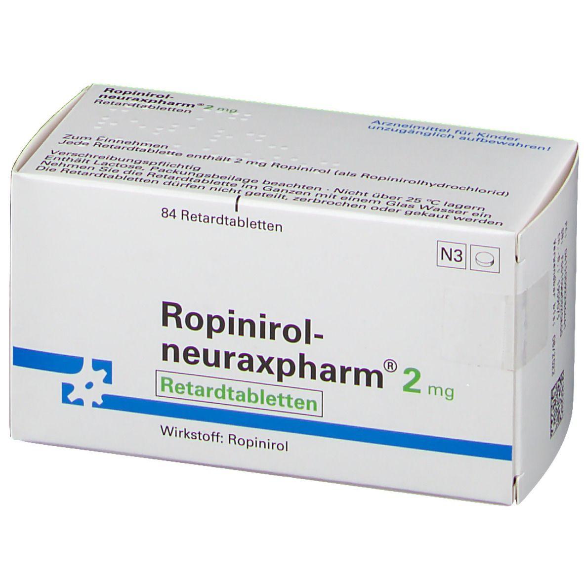 ROPINIROL neuraxpharm 2 mg Retardtabletten