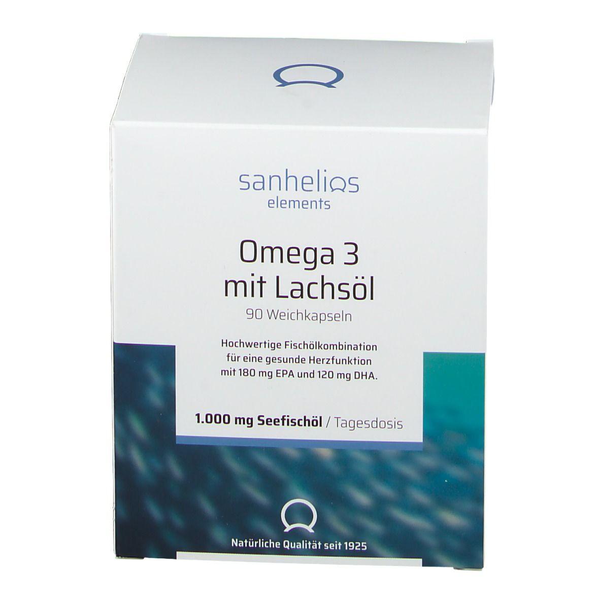 Sanhelios Omega 3 mit Lachsöl