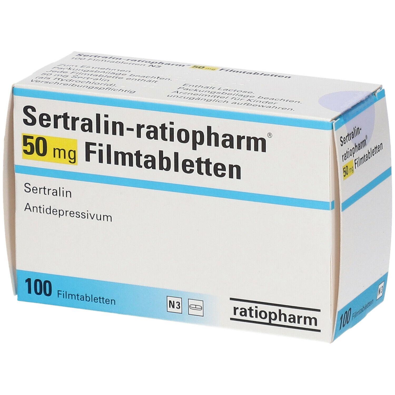 SERTRALIN ratiopharm® 50 mg Filmtabletten 100 St - shop