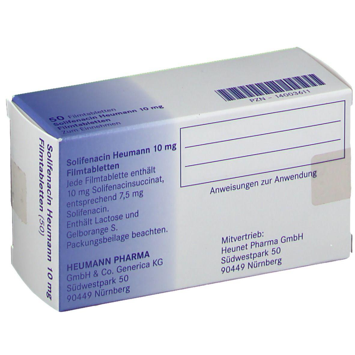 SOLIFENACIN Heumann 10 mg Filmtabletten
