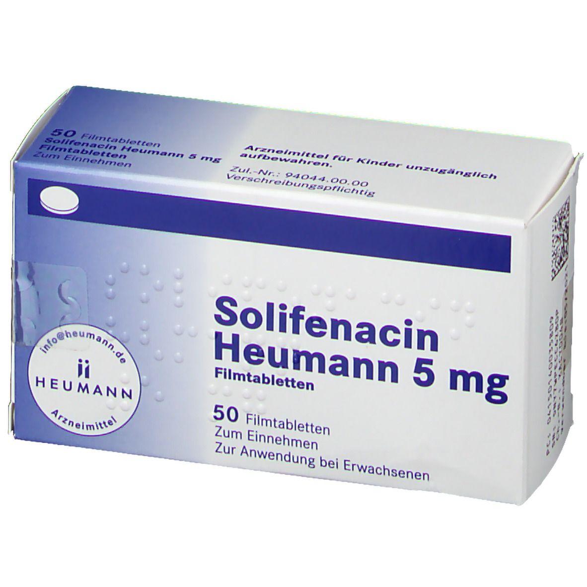 SOLIFENACIN Heumann 5 mg Filmtabletten