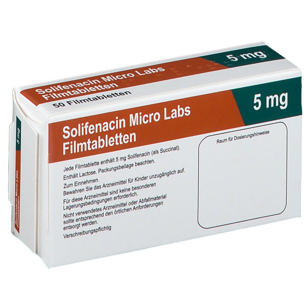 SOLIFENACIN Micro Labs 5 mg Filmtabletten