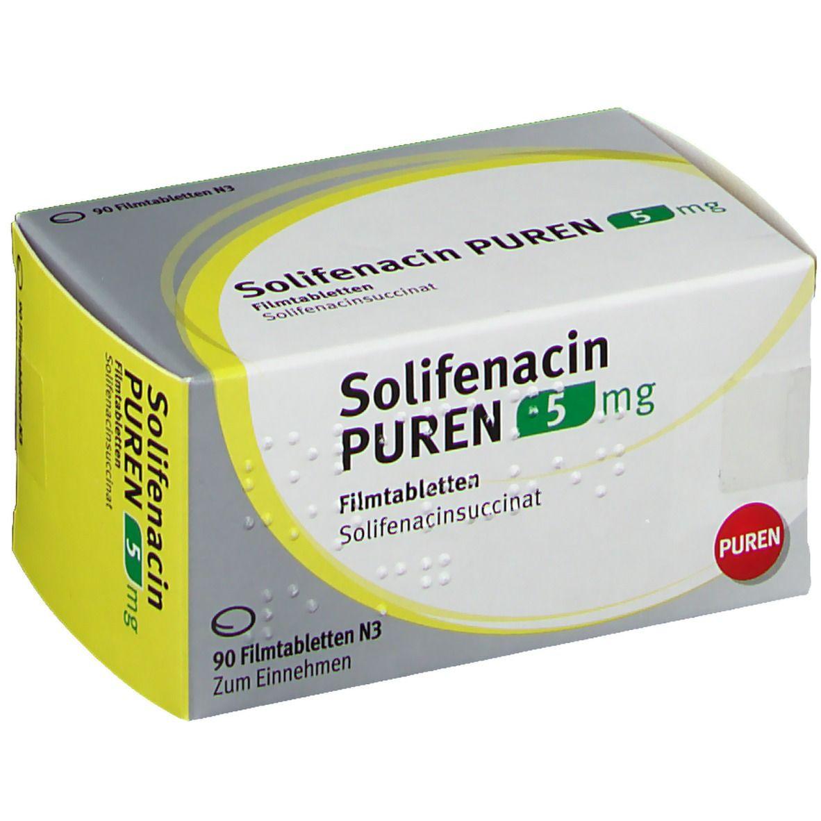 SOLIFENACIN PUREN 5 mg Filmtabletten