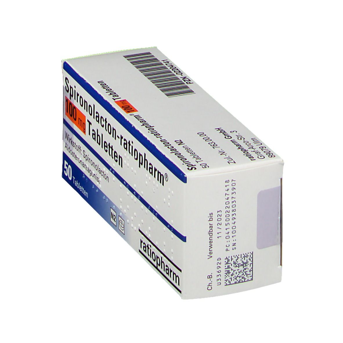 Spironolacton ratiopharm® 100 Tabl.